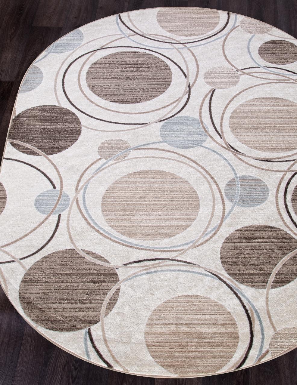 Ковер d301 - CREAM-BROWN - Овал - коллекция VALENCIA DELUXE