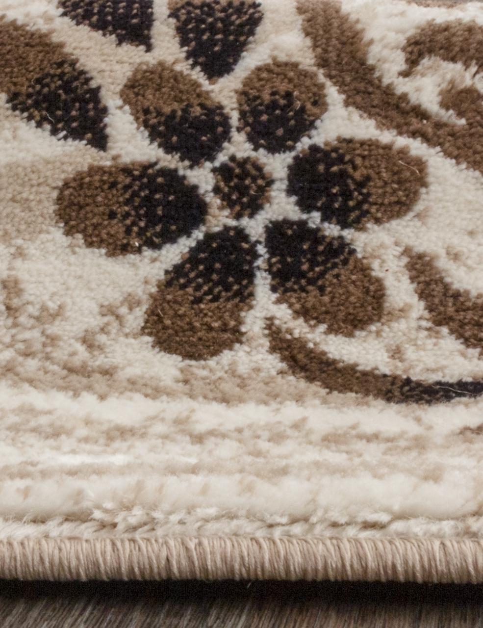 Ковер d303 - CREAM-BROWN - Овал - коллекция VALENCIA DELUXE - фото 3