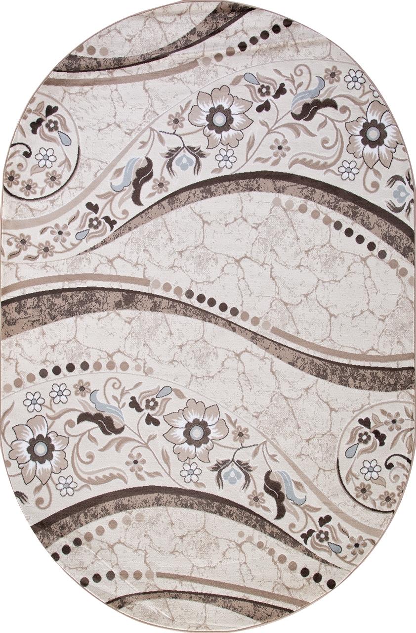 Ковер d312 - CREAM-BROWN - Овал - коллекция VALENCIA DELUXE - фото 2
