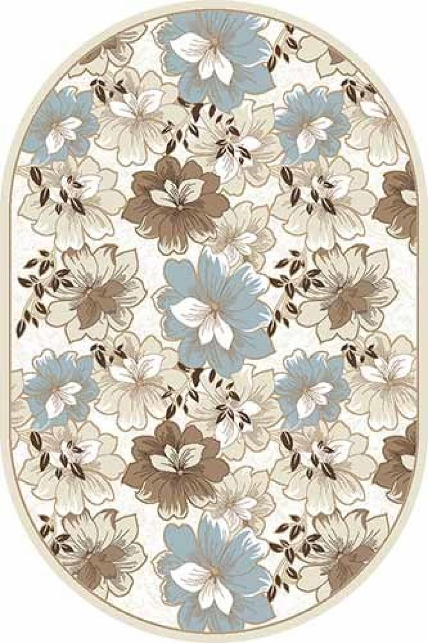 Ковер d322 - CREAM-BROWN - Овал - коллекция VALENCIA DELUXE