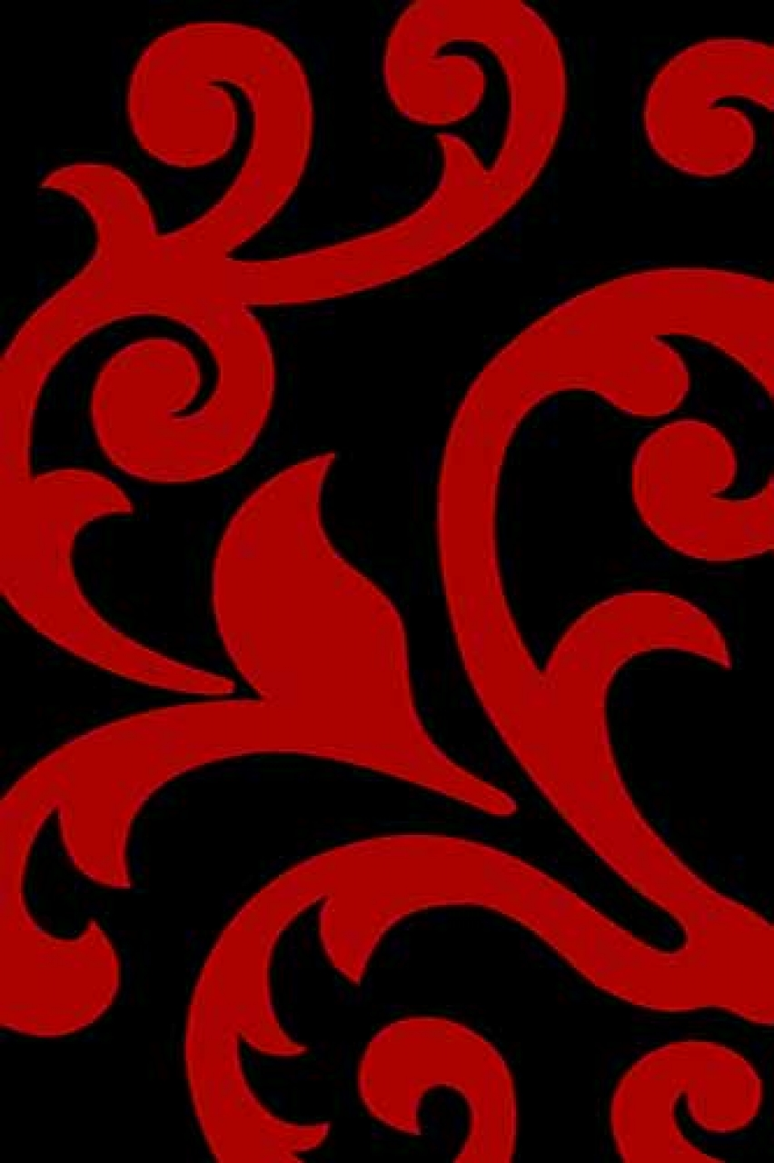 Ковер v809 - BLACK-RED - Прямоугольник - коллекция VISION DELUXE