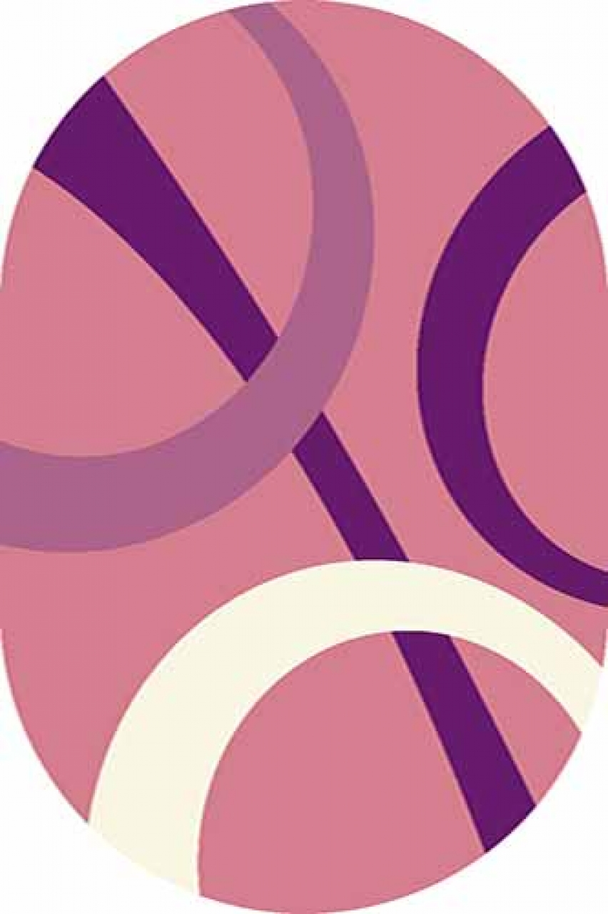 Ковер v810 - PINK - Овал - коллекция VISION DELUXE - фото 1