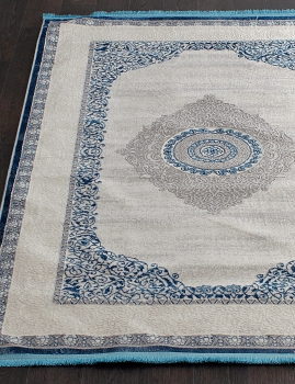 Ковер 0T209RG - BLUE / BLUE - Прямоугольник - коллекция ALFANI