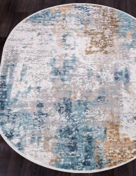 Ковер 12004 - CREAM / BLUE - Овал - коллекция ALLURES