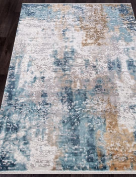 Ковер 12004 - CREAM / BLUE - Прямоугольник - коллекция ALLURES