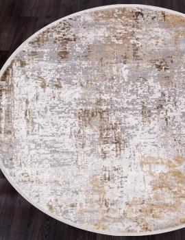 Ковер 12008 - CREAM / BEIGE - Круг - коллекция ALLURES