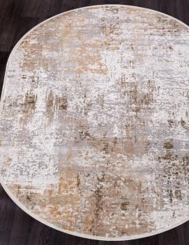 Ковер 12008 - CREAM / BEIGE - Овал - коллекция ALLURES