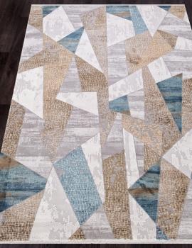 Ковер 12009 - CREAM / BLUE - Прямоугольник - коллекция ALLURES