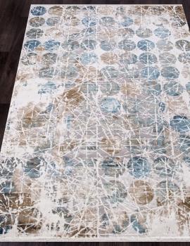 Ковер 12026 - CREAM / BLUE - Прямоугольник - коллекция ALLURES