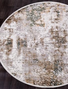 Ковер 12104 - CREAM / GREEN - Круг - коллекция ALLURES