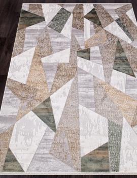 Ковер 12108 - CREAM / GREEN - Прямоугольник - коллекция ALLURES