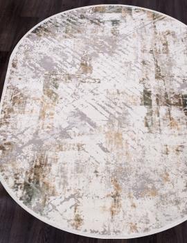 Ковер 12123 - CREAM / GREEN - Овал - коллекция ALLURES