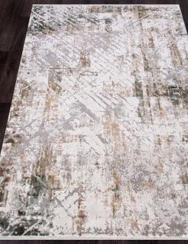 Ковер 12123 - CREAM / GREEN - Прямоугольник - коллекция ALLURES