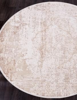 Ковер 12216 - CREAM / CREAM - Круг - коллекция ALLURES