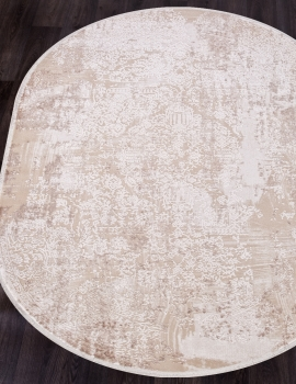 Ковер 12216 - CREAM / CREAM - Овал - коллекция ALLURES