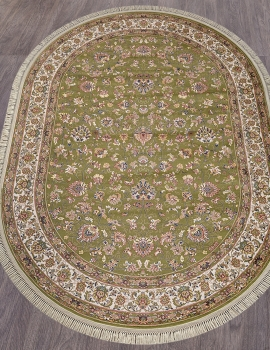Ковер 5471 - GREEN - Овал - коллекция ARAVIA