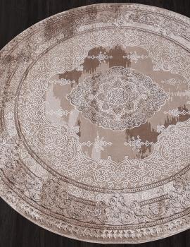 Ковер 03704A - BROWN / BROWN - Круг - коллекция ARMINA