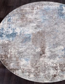 Ковер 03853A - BLUE / BLUE - Круг - коллекция ARMINA