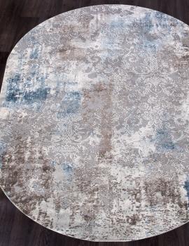 Ковер 03853A - BLUE / BLUE - Овал - коллекция ARMINA