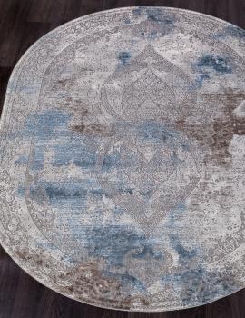 Ковер 03879A - BLUE / BLUE - Овал - коллекция ARMINA