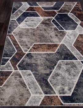 Ковер D753 - BEIGE-GRAY - Прямоугольник - коллекция BOSTON