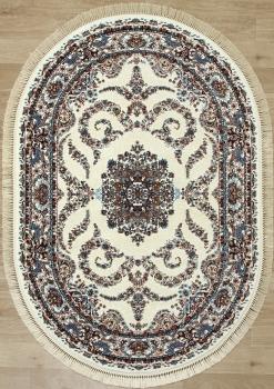 Ковер 08612A - CREAM / CREAM - Овал - коллекция BROOKLYN