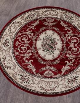 Ковер D066 - RED - Круг - коллекция COLIZEY