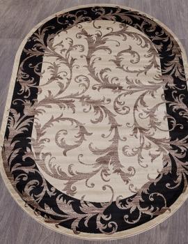 Ковер D156 - CREAM-BLACK - Овал - коллекция COLIZEY