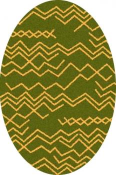 Ковер s644 - GREEN-ORANGE - Овал - коллекция COMFORT SHAGGY 2