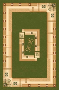 Ковер 5263 - GREEN - Прямоугольник - коллекция DA VINCI