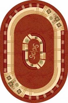 Ковер 5263 - PINK - Овал - коллекция DA VINCI