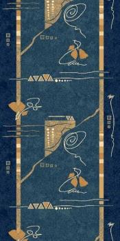 Ковровая дорожка 5305 - BLUE - коллекция DA VINCI