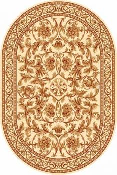 Ковер d126 - CREAM 2 - Овал - коллекция DA VINCI