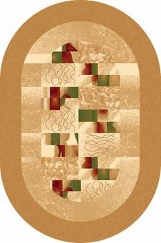 Ковер d143 - BEIGE - Овал - коллекция DA VINCI