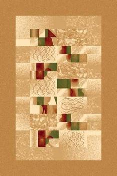Ковер d143 - BEIGE - Прямоугольник - коллекция DA VINCI