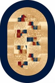Ковер d143 - NAVY - Овал - коллекция DA VINCI