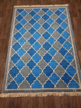 Ковер 11023.102 HANZADE - Голубой - Прямоугольник - коллекция Decovilla