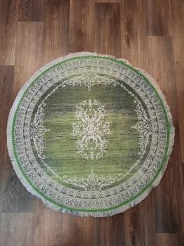 Ковер 21001.102 AGAH - Зеленый - Круг - коллекция Decovilla