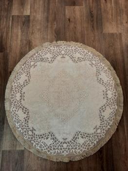 Ковер 21003.101 DANTEL - Светло-коричневый - Круг - коллекция Decovilla