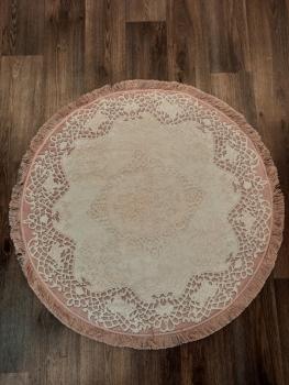 Ковер 21003.102 DANTEL - Розовый - Круг - коллекция Decovilla