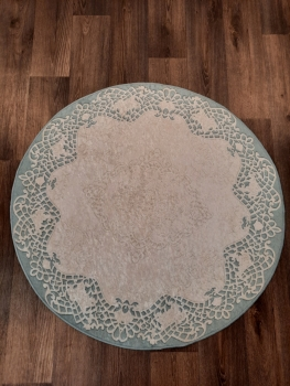 Ковер 21003.103 DANTEL - Голубой - Круг - коллекция Decovilla