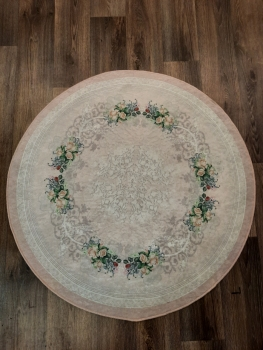 Ковер 21005.101 ADA - Розовый - Круг - коллекция Decovilla