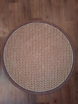 Ковер 21016.103 HASIR - Коричневый - Круг - коллекция Decovilla