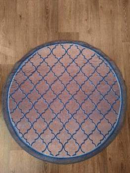 Ковер 21022.102 EMIR - Темно-синий - Круг - коллекция Decovilla