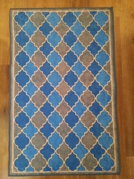 Ковер 21023.102 HANZADE - Голубой - Прямоугольник - коллекция Decovilla