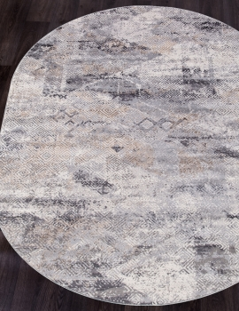 Ковер G500A - WHITE / D.VIZON - Овал - коллекция EFES