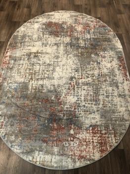 Ковер G512C - WHITE / SALMON - Овал - коллекция EFES