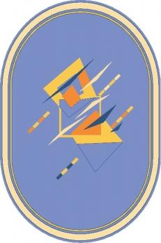 Ковер F613V - 60 - Овал - коллекция Фиеста де Люкс