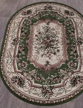 Ковер 5439 - GREEN - Овал - коллекция GAVANA