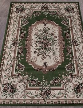 Ковер 5439 - GREEN - Прямоугольник - коллекция GAVANA